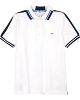 BOSS Boys Polo Shirt with Stripes