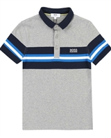 BOSS Boys Polo Shirt with Chest Stripes