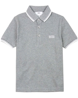 BOSS Boys Basic Polo Shirt in Grey