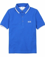 BOSS Boys Basic Polo Shirt in Blue
