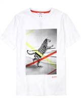 BOSS Boys T-shirt with Tiger Print
