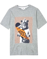 BOSS Boys T-shirt with Skateboard Print