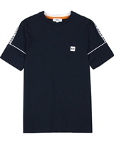 BOSS Boys T-shirt with Logo Print Stripes