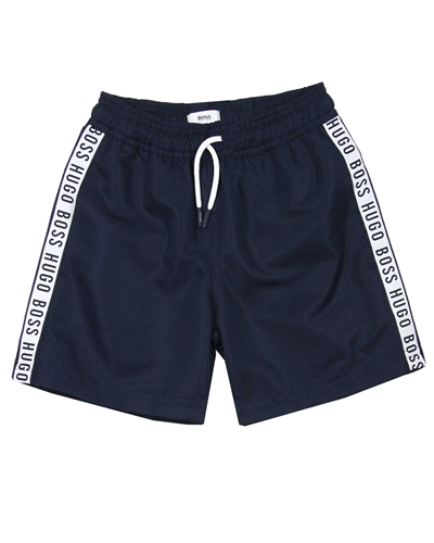 BOSS Boys Bermuda Shorts Logo Print Stripes