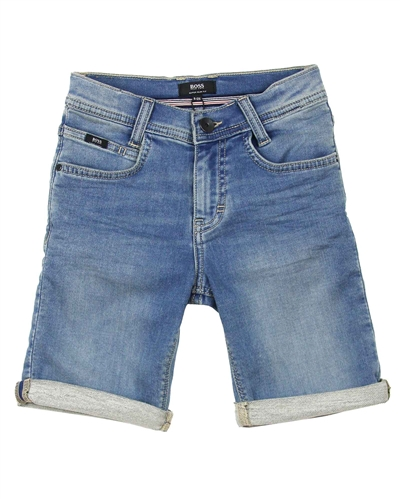 BOSS Boys Denim Bermuda Shorts
