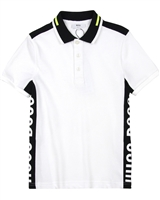 BOSS Boys Polo Shirt with Side Inserts