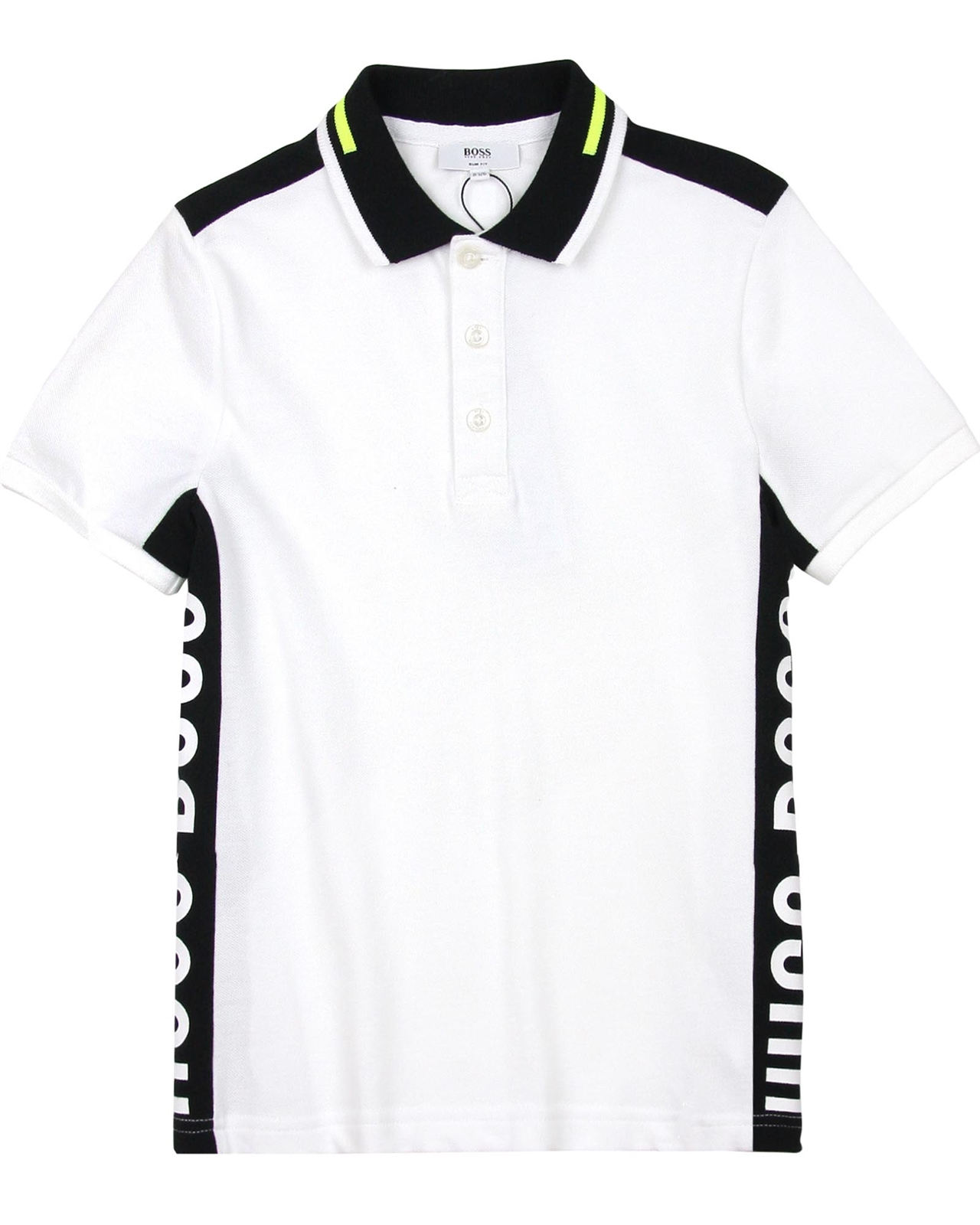 beea21964 BOSS Boys Polo Shirt with Side Inserts, Sizes 6-16