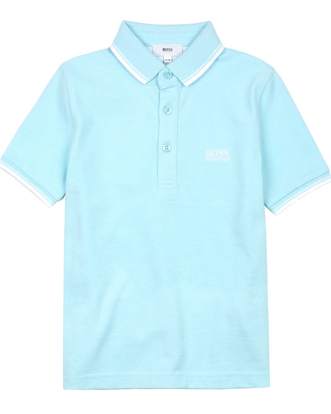 8ec6b8a81 BOSS Boys Basic Polo Shirt in Light Blue - BOSS - BOSS Boys Clothes ...