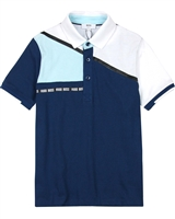 BOSS Boys Basic Polo Shirt in Light Blue