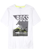 BOSS Boys T-shirt with Zebra Print