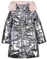 Imoga Metallic Quilted Coat with Hood Vicky