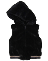 Imoga Faux Fur Hooded Vest Gwen