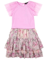 Imoga Dress Priya in Pink and Garden Print