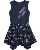 Imoga Dress Thelma in Feathers Print