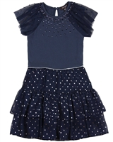 Imoga Dress Priya in Navy and Star Print