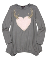 Imoga Tunic Amber with Plush Heart Appliqué