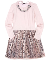 Imoga Dress with Necklace Samantha in Animal Print