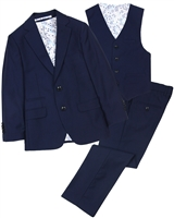 Isaac Mizrahi Boys' 3-piece Suit in Navy