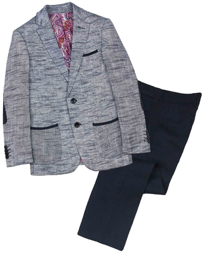 7490e3bc55331 Isaac Mizrahi Boys' Two-tone Linen Suit - Isaac Mizrahi Boys Suits ...