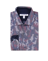 Isaac Mizrahi Boys' Dress Shirt in Camo