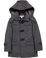 Isaac Mizrahi Boys' Duffle Coat in Gray