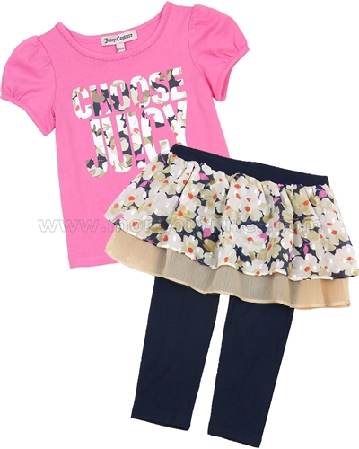 Juicy Couture Leggings with Skirt and T-shirt