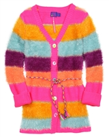 Kidz Art Girls Shag Knit Cardigan