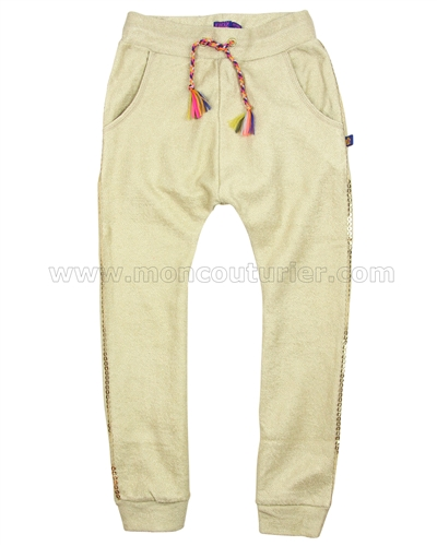 Kidz Art Girls Gold Print Sweatpants