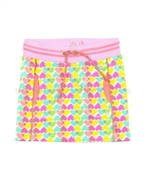 Kidz Art Mini Skirt in Heart Print