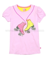 Kidz Art T-shirt with Boots Print Pale Pink