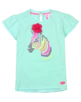 Kidz Art T-shirt with Zebra in Green
