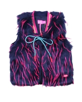 Kidz Art Multicolourful Fake Fur Vest