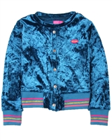 Kidz Art Crushed Velvet Cardigan