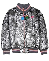 Kidz Art Coated Fake Fur Cardigan