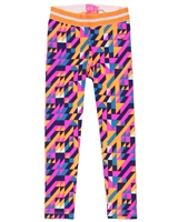 Kidz Art Jersey Leggings in Triangle Print