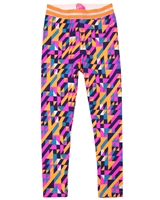Kidz Art Fleece Leggings in Triangle Print