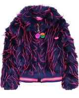Kidz Art Fake Fur Bomber Jacket