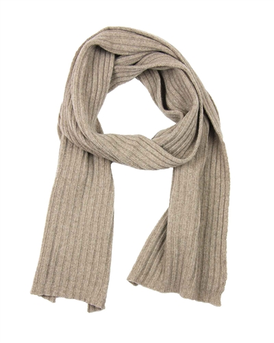 Kamea Women's Rib Knit Scarf in Taupe
