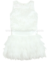 Biscotti Girls Arabesque Drop Wait Dress White