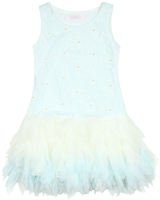 Biscotti Girls Living the Dream Embroidered Tulle Dress Blue