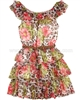 Kate Mack Girls Kitty Kahlo Tiered Dress