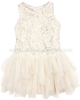 Biscotti Filigree Splendor Ivory Drop Waist Dress