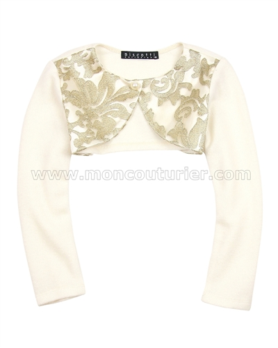 Biscotti Royal Treatment Gold Knit Shrug