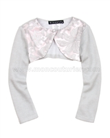 Biscotti Royal Treatment Silver Knit Shrug