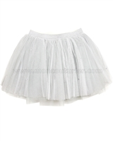 Kate Mack Style Prodigy Silver Tulle Skirt