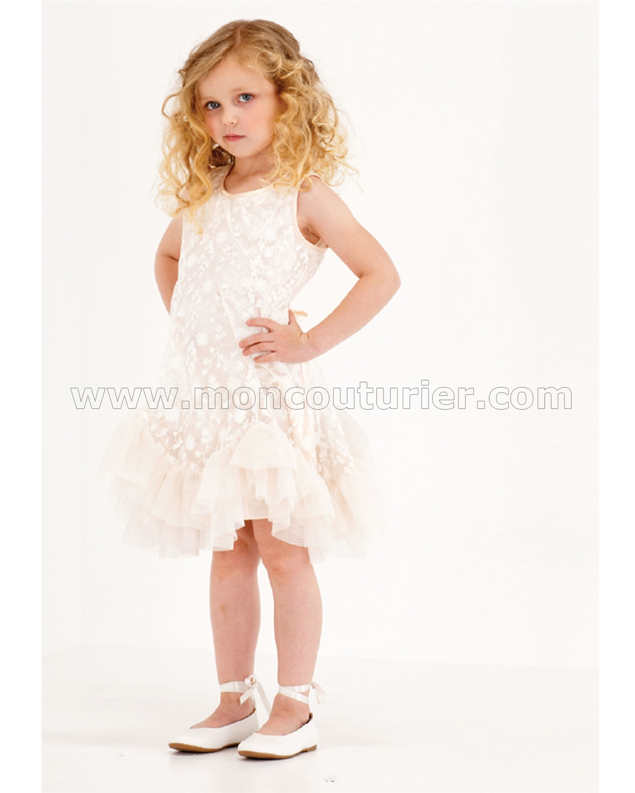 Biscotti Girls Dress with Frill Hem Pretty Please | Biscotti and ...