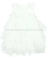 Biscotti Girls Tiered Dress Party Petals