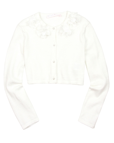 Biscotti Girls Knit Cardigan Party Petals