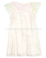 Biscotti Girls IDress with Flounce Sleeves Fairest of All