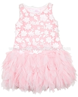 Biscotti Girls Pink Dress with Ruffled Skirt Pick a Posy